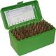 MTM - Аксессуары, Бокс MTM RM-50 на 50 патронов кал. 243 Win и 308 Win. Цвет – зеленый.