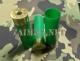 12к. - Снаряжение  патронов, Гильза пластмассовая 12 к 70мм под еврокапсюль Nobel Sport Италия (100 шт в уп.) зеленая